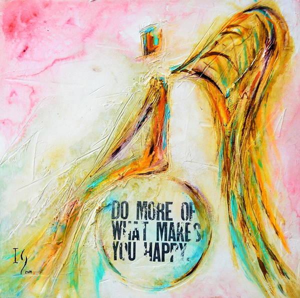 Wall Art - Mixed Media - Making You Happy by Ivan Guaderrama