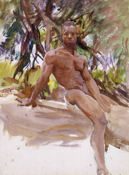 20th Century Man Drawing - Man And Trees, Florida by John Singer Sargent