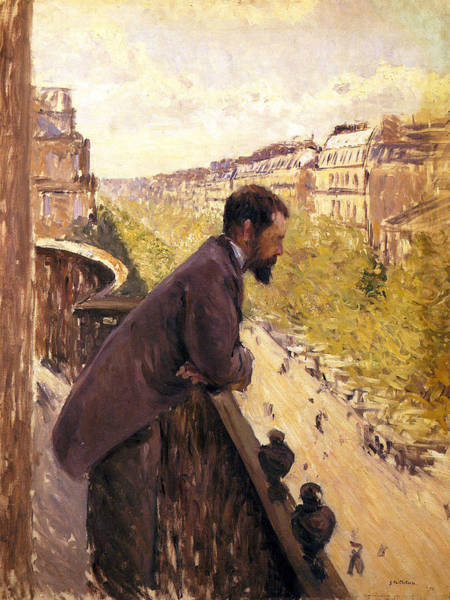 Painting - Man On A Balcony by Gustave Caillebotte