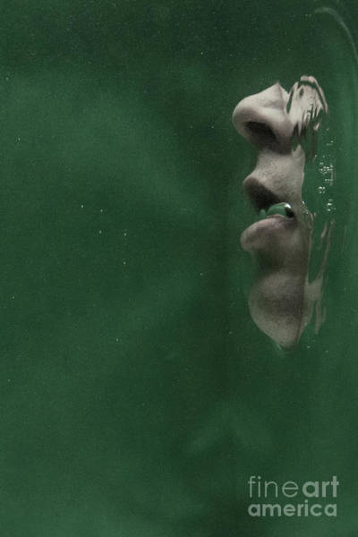 Photograph - Man Underwater Three by Clayton Bastiani