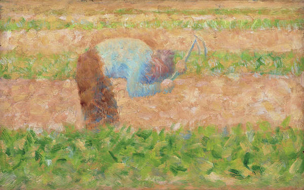 Painting - Man With A Hoe by Georges Seurat