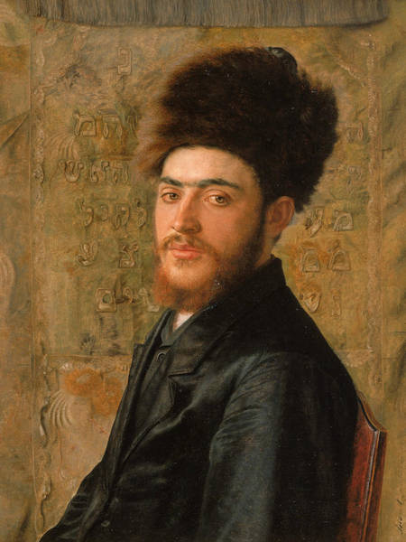 Painting - Man With Fur Hat by Isidor Kaufmann