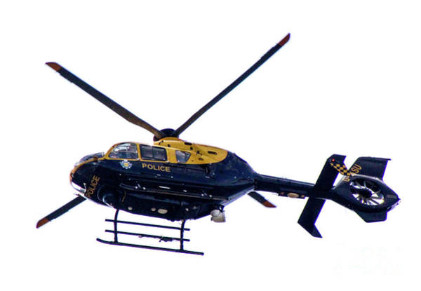 Photograph - Manchester Police Helicopter - Uk by Doc Braham