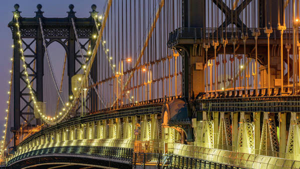 Liberty Bridge Photograph - Manhattan Bridge by Randy Lemoine