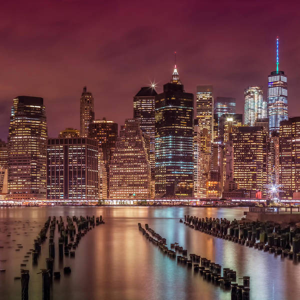 Wall Art - Photograph - Manhattan Skyline At Sunset  by Melanie Viola