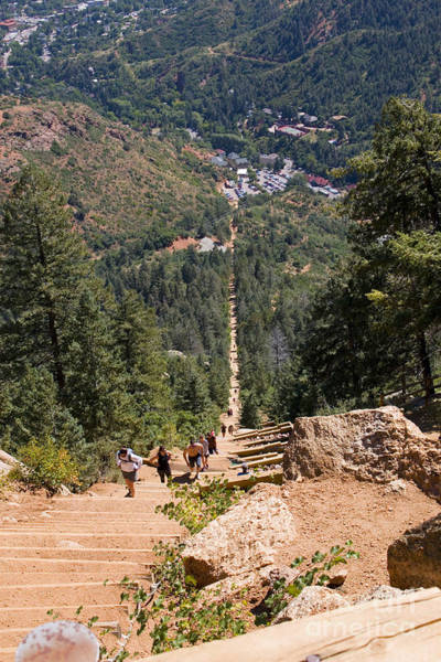 Photograph - Manitou Springs Pikes Peak Incline by Steve Krull