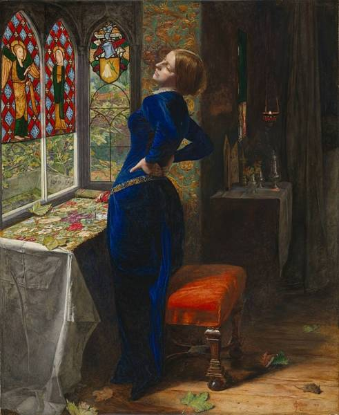 Pre-raphaelite Brotherhood Painting - Mariana by John Everett Millais