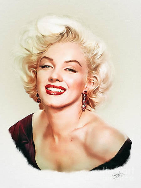 Norma Jeane Mortenson Painting - Marilyn Monroe by Chaz Salazar