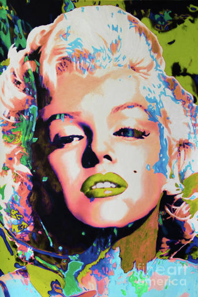 Painting - Marilyn Monroe Pop Art - Doc Braham - All Rights Reserved by Doc Braham
