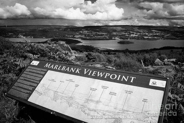 Wall Art - Photograph - Marlbank Viewpoint Over Lough Macnean Scenic Loop Drive County Fermanagh Border Country Northern Ire by Joe Fox
