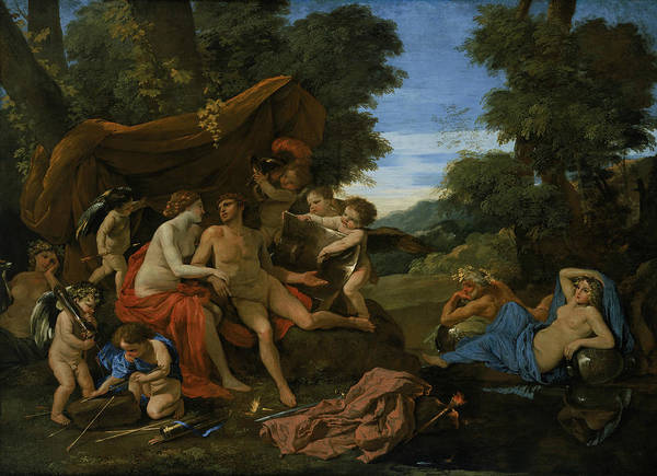 Painting - Mars And Venus by Nicolas Poussin