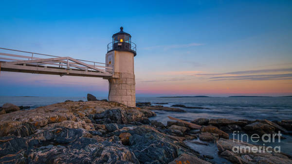 Marshall Point Lighthouse Photograph - Marshall Point Lighthouse Sunset by Michael Ver Sprill