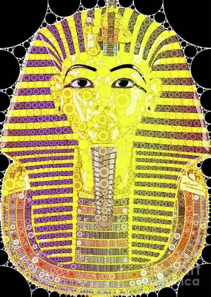 Gautama Digital Art - Mask Of Tutankhamun, Pop Art By Mb by Mary Bassett