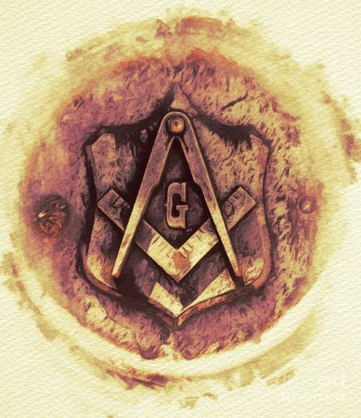 Wall Art - Painting - Masonic Symbolism by Pierre Blanchard
