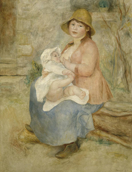 Painting - Maternity  by Auguste Renoir