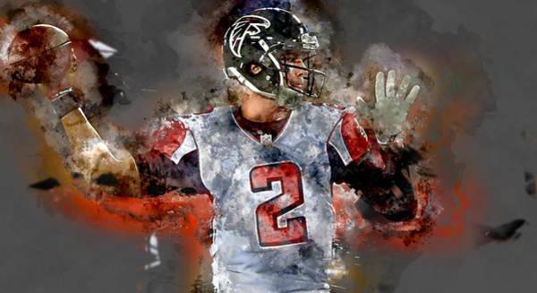 Atlanta Falcons Mixed Media - Matt Ryan by Marvin Blaine