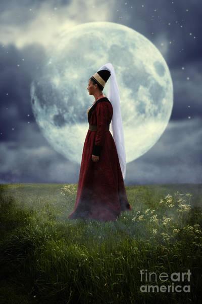 Nightime Photograph - Medieval Woman by Amanda Elwell