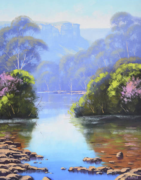 Wall Art - Painting - Megalong Creek by Graham Gercken