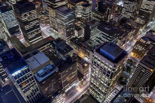 Photograph - Melbourne At Night  by Ray Warren