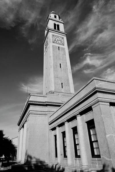 Tribute Photograph - Memorial Tower - Lsu Bw by Scott Pellegrin