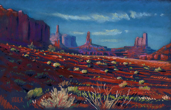 Monument Valley Navajo Tribal Park Wall Art - Painting - Mesa Shadows by Donald Maier
