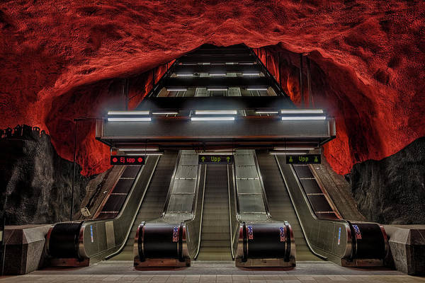 Kunst Wall Art - Photograph - Metro Station Stockholm by Joana Kruse