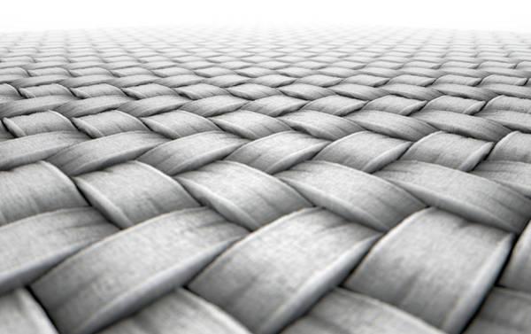 Cloth Digital Art - Micro Fabric Weave by Allan Swart