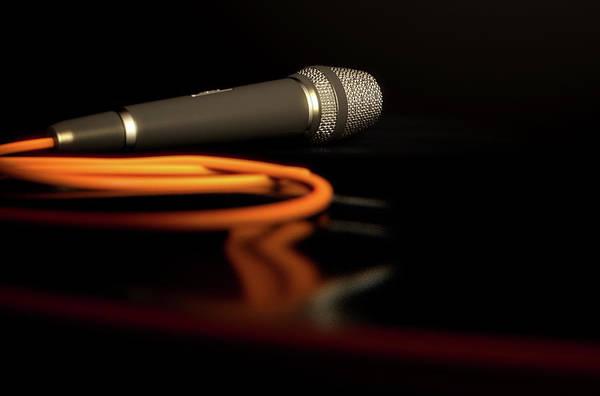 Talent Wall Art - Digital Art - Microphone On The Floor by Allan Swart