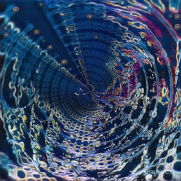 Digital Art - Midnight Abstract Water Disorder by Swedish Attitude Design