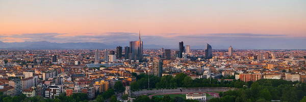 Photograph - Milan City Skyline by Songquan Deng