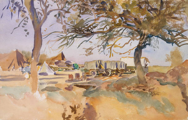 Painting - Military Camp by John Singer Sargent
