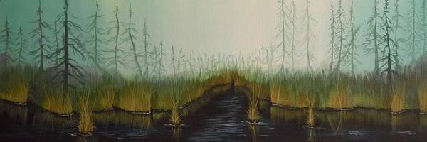 Wall Art - Painting - Misty Marsh by Jana Caissie
