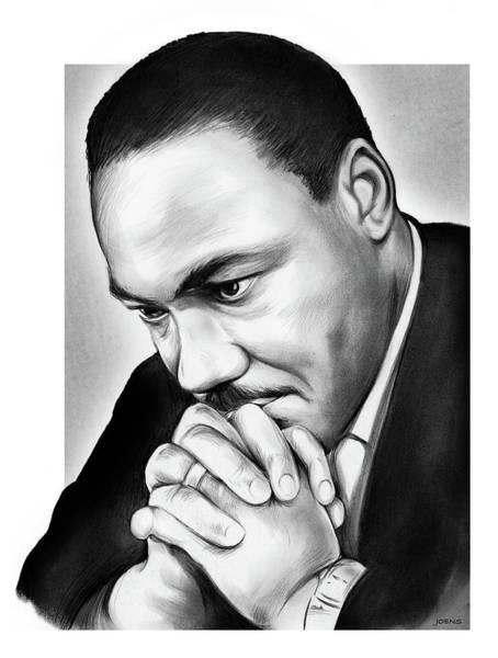 Rights Wall Art - Drawing - MLK by Greg Joens
