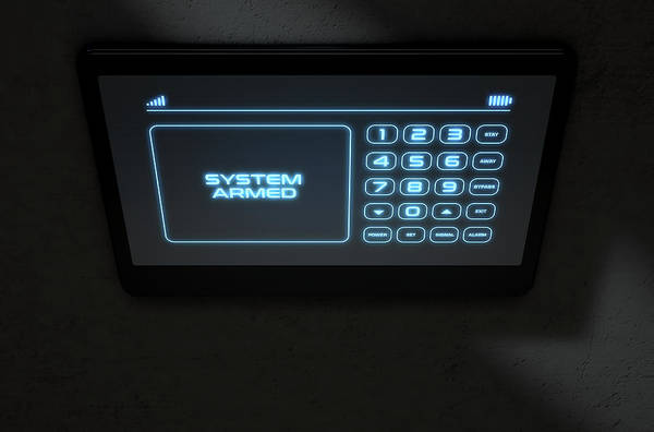 Illuminated Digital Art - Modern Interactive Home Security by Allan Swart