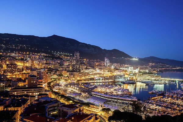 Wall Art - Photograph - Monaco By Night by Artur Bogacki