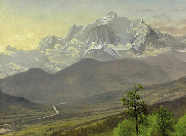 Mont Blanc Wall Art - Painting - Mont Blanc by Albert Bierstadt