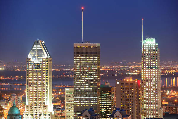Photograph - Montreal At Dusk by Songquan Deng