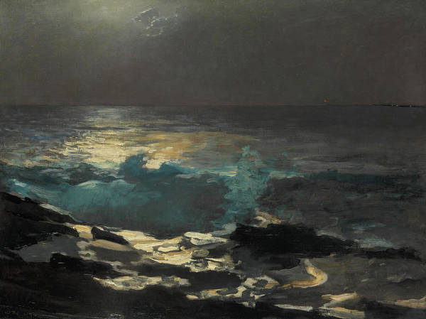 Painting - Moonlight, Wood Island Light by Winslow Homer