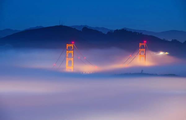 San Francisco Wall Art - Photograph - Morning Fog - Marin Headlands by David Yu