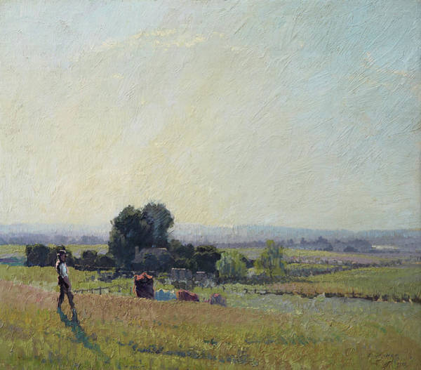 Farmstead Painting - Morning Light by Elioth Gruner