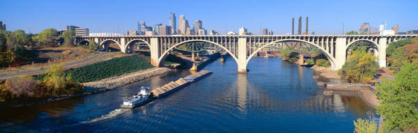 Tug Boat Photograph - Morning, Minneapolis, Minnesota by Panoramic Images