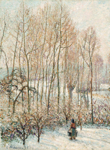 Rural Wall Art - Painting - Morning Sunlight On The Snow, Eragny-sur-epte by Camille Pissarro