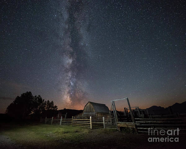 Moulton Wall Art - Photograph - Moulton Barn Milky Way  by Michael Ver Sprill
