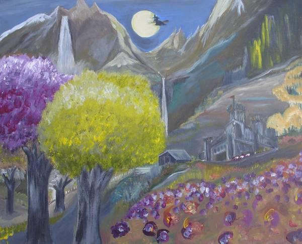 Mountain Castle Art Print by Michael Braun