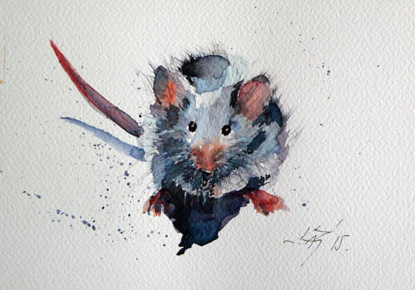 Mouse Painting - Mouse by Kovacs Anna Brigitta