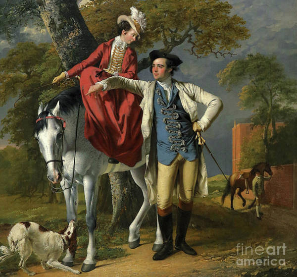 Wall Art - Painting - Mr And Mrs Thomas Coltman by Joseph Wright of Derby