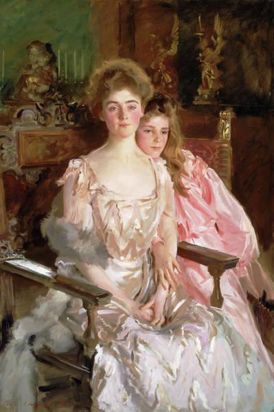 Mrs. Fiske Warren And Her Daughter Rachel Art Print