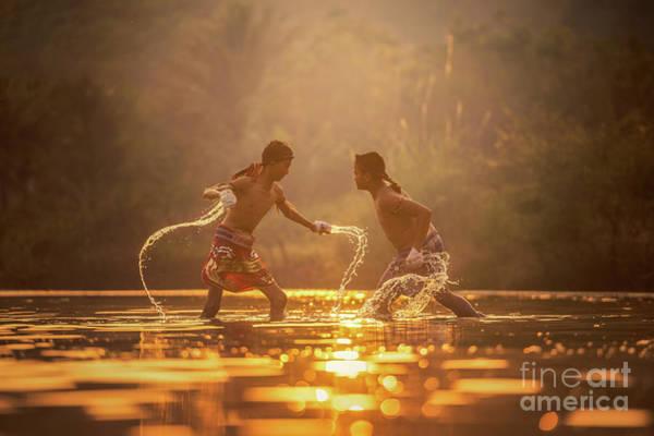 Kickboxing Photograph - Muay Thai by Sasin Tipchai