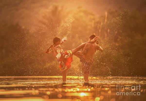 Kickboxing Photograph - Muay Thai, Thai Boxing by Sasin Tipchai