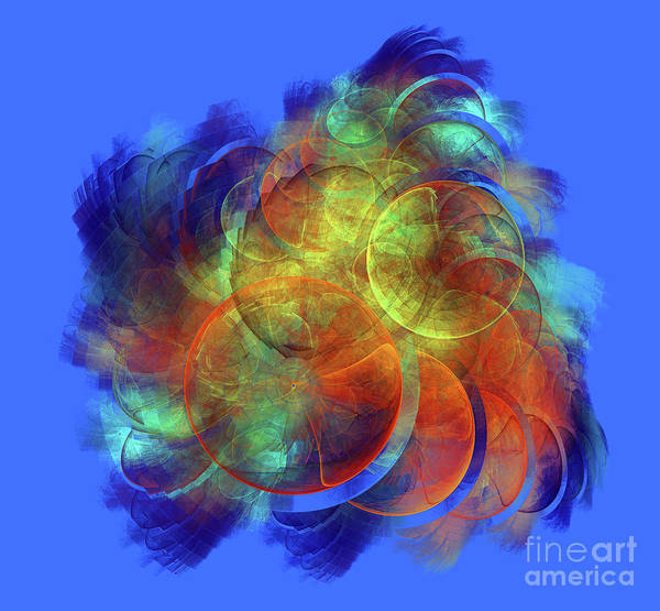 Digital Art - Multicolored Abstract Figures by Odon Czintos